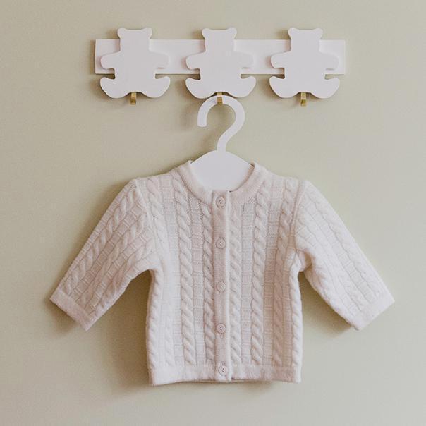 100% merino vilnos megztukas kūdikiui VILAURITA su pynutės raštu, 62 cm (326)
