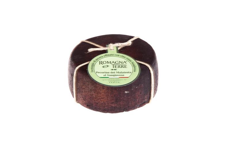 Avių pieno sūris ROMAGNA TERRE Pecorino su Sangiovese raudonojo vyno plutele