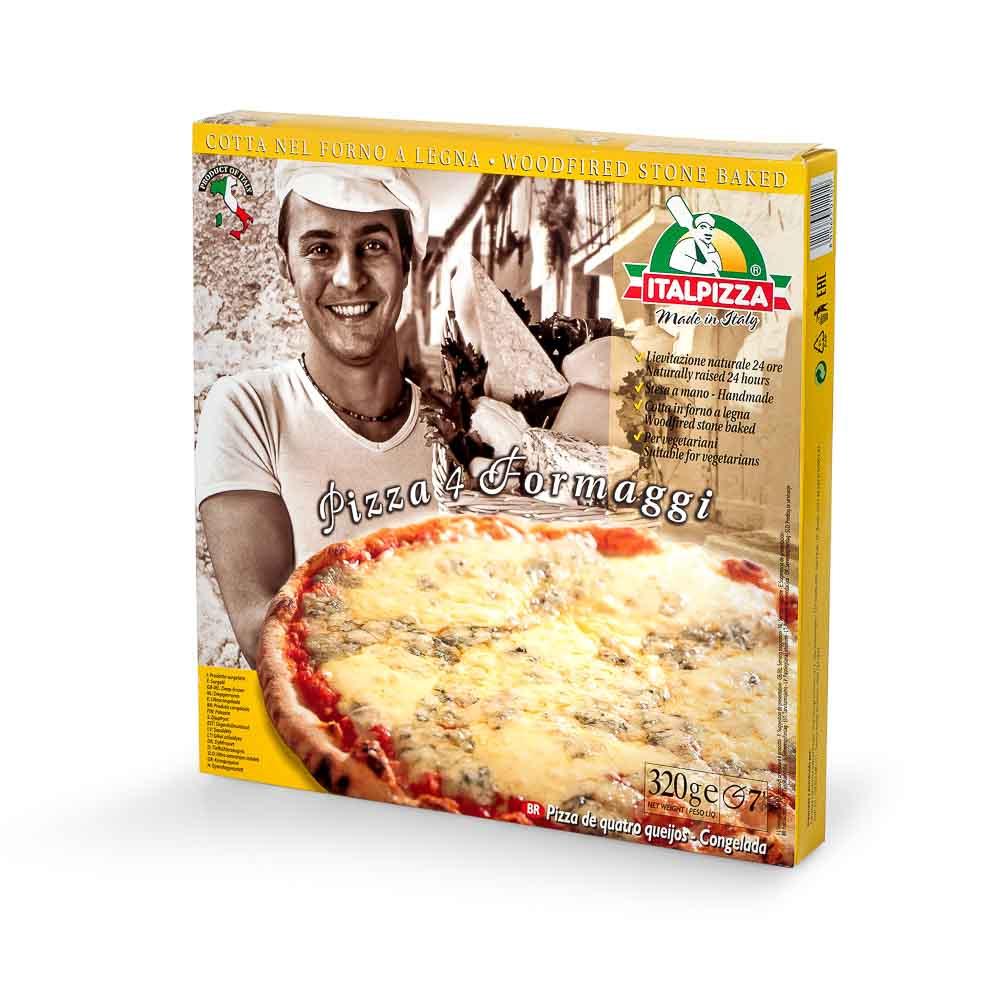 Keturių sūrių pica ITALPIZZA, 320g