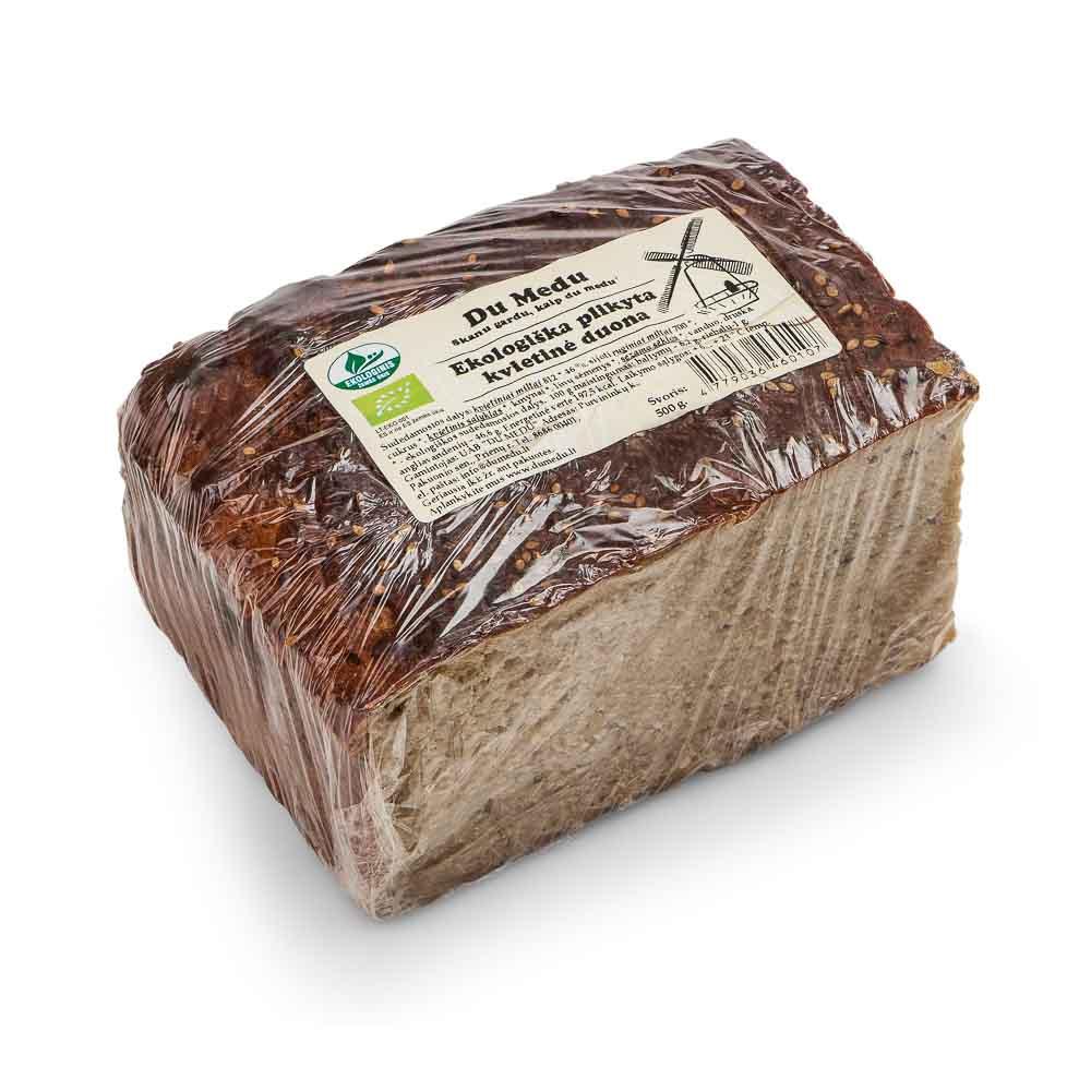 Ekologiška plikyta kvietinė duona DU MEDU, 500g