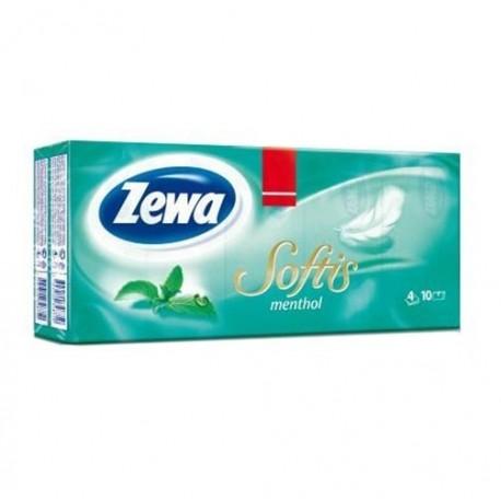 ZEWA Softis Menthol vienkartinės nosinaitės, 10vnt.