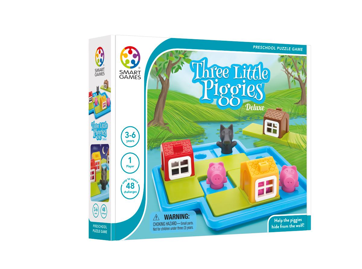 Loginis žaidimas SMART GAMES Three Little Piggies Deluxe vaikams nuo 3 metų (SG 023)