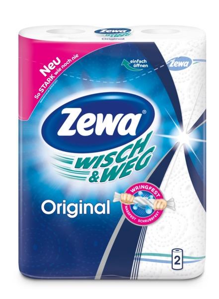 ZEWA Wisch&Weg popieriniai rankšluosčiai, 2 ritinėliai