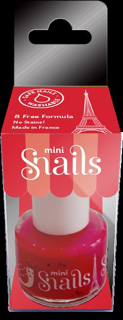 Vaikiškas nagų lakas SNAILS Mini Meilė  yra vaikams nuo 3 metų, 7 ml (8191)
