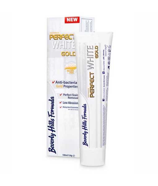 Balinanti ir stiprinanti dantenas dantų pasta BEVERLY HILLS FORMULA White Gold, 130 g