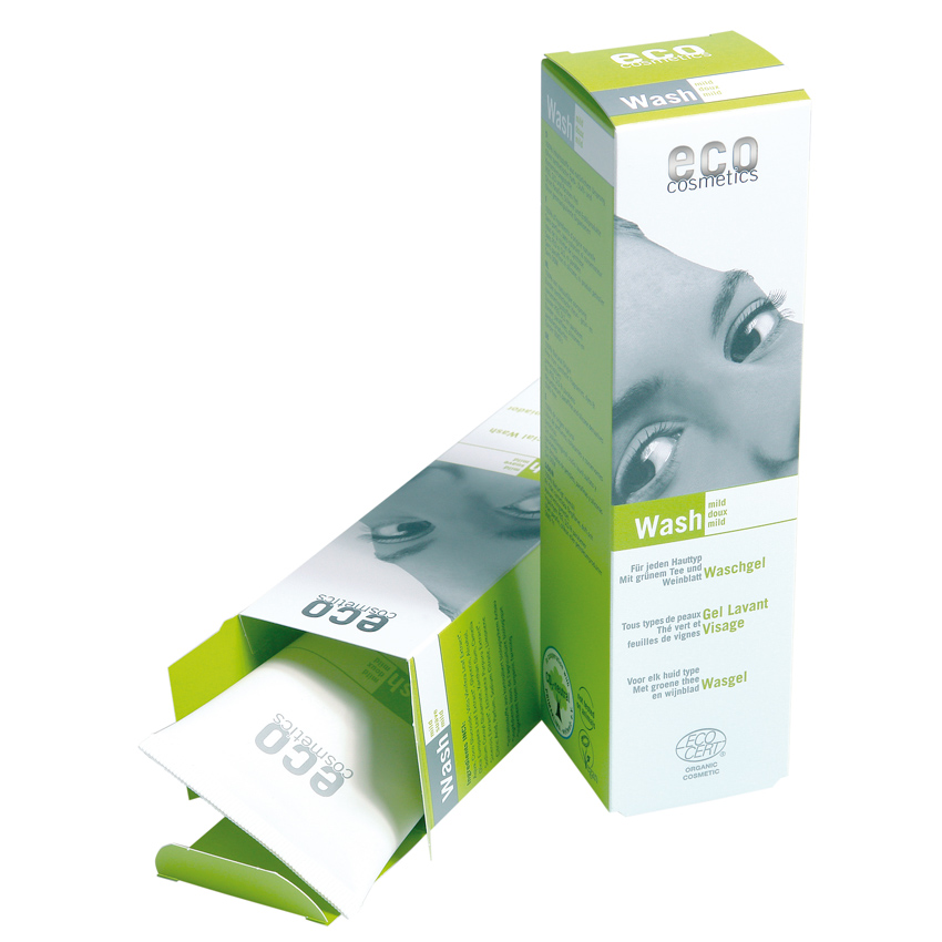 Veido prausiklis ECO COSMETICS su žaliąja arbata ir vynuogių lapais, 125 ml