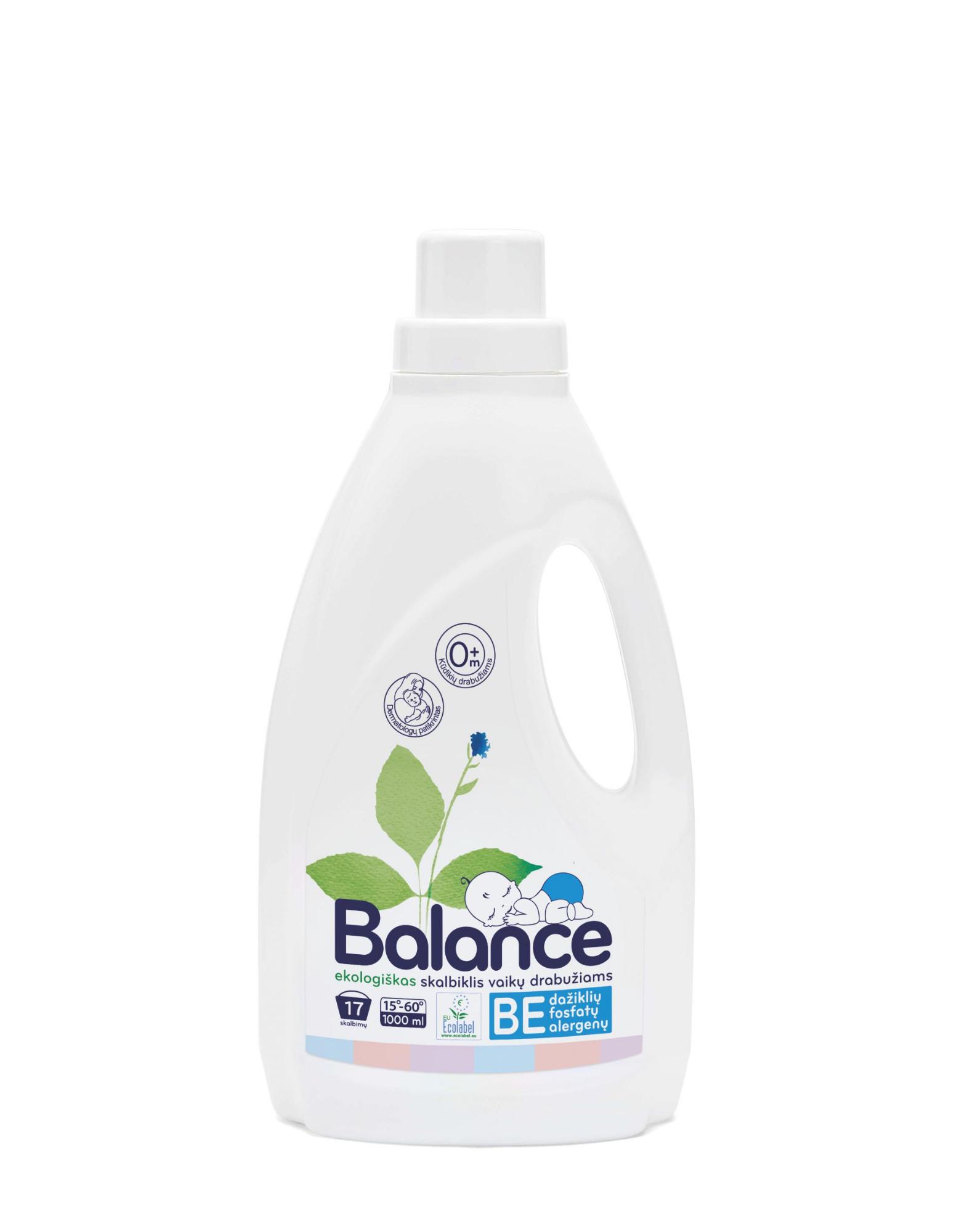 Ekologiškas skalbiklis vaikų drabužiams BALANCE, 1 L