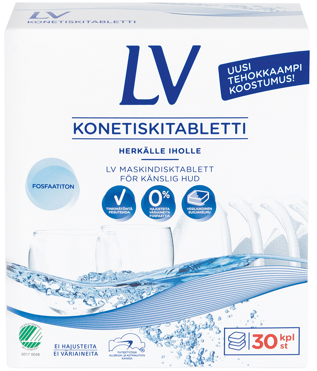 Indaplovių tabletės LV, 30 vnt