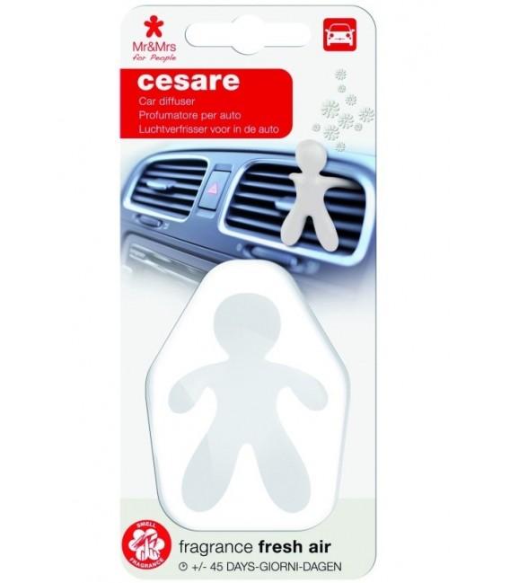 Automobilių oro gaiviklis CESARE plastikinėje pakuotėje – FRESCH AIR, Mr&Mrs Fragrance