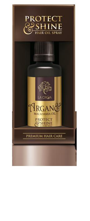 Žvilgesio ir minkštumo suteikiantis purškiamas plaukų aliejus LA CROA, 60 ml