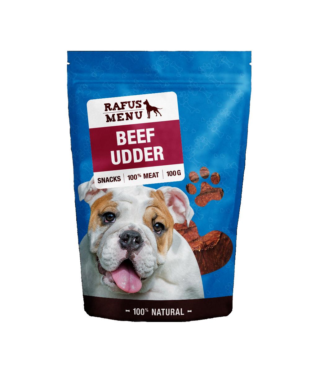 100% natūralios vytintos galvijų tešmenys šunims RAFUS, 100 g