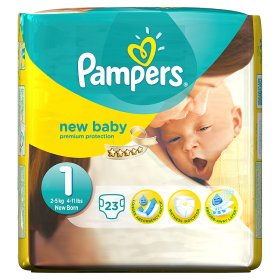 PAMPERS New Baby sauskelnės, 1 dydis (2 – 5 kg), 22 vnt.