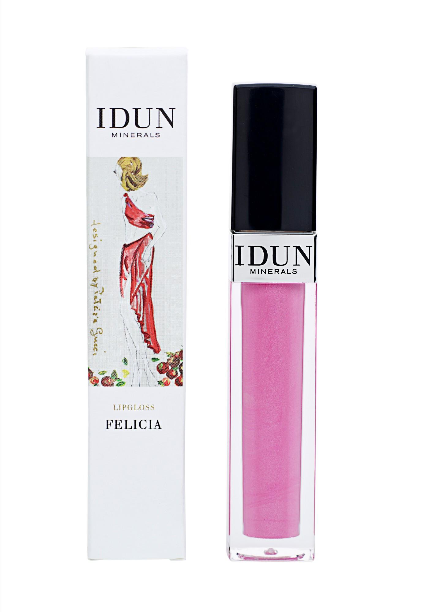 Lūpų blizgis rožinės spalvos IDUN MINERALS Felicia, 6 ml