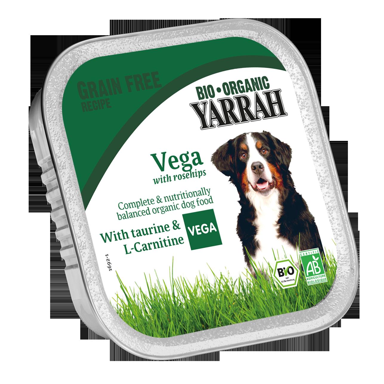 Ekologiški vegetariški gabalėliai YARRAH su erškėtuogėmis, 150g