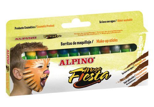 Grimo kreidelės ALPINO Mega Fiesta, 12 spalvų (DL000012)