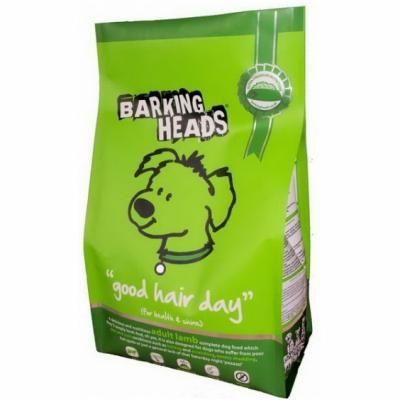 Sausas ėdalas BARKING HEADS Bad Hair Day su ėriena ir ryžiais, 1.5kg