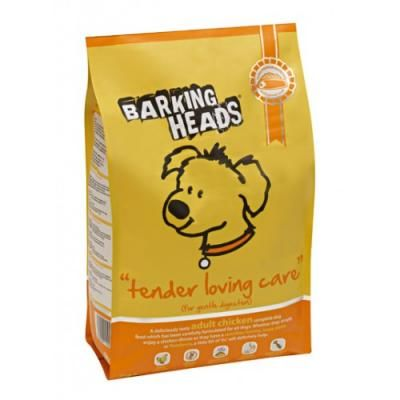 Sausas ėdalas BARKING HEADS Tiny Paw's Tender Loving Care su vištiena, 1,5kg