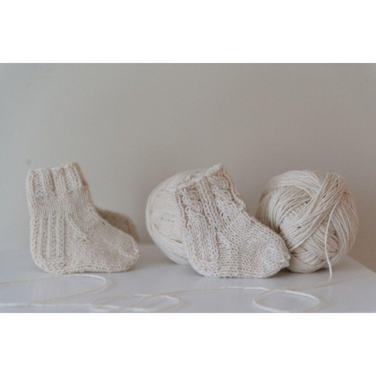 100% VILNONĖS kojinaitės kūdikiams, 9 cm, Vilaurita (300)
