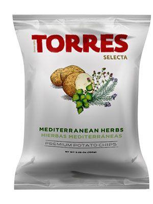 Bulvių traškučiai TORRES su viduržemio jūros žolelėmis, 50g
