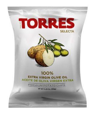 Bulvių traškučiai TORRES su alyvuogių aliejum, 50g