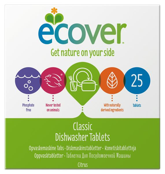 Indaplovių tabletės ECOVER (500g), 25vnt.
