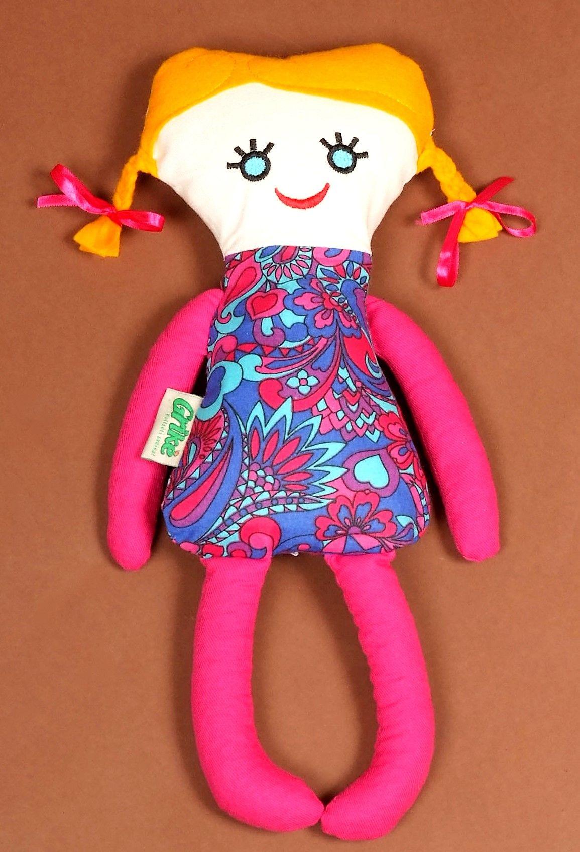 Grikė Natūralus žaislas-šildyklė Mergaitė kimšta grikių lukštais  43x20cm.