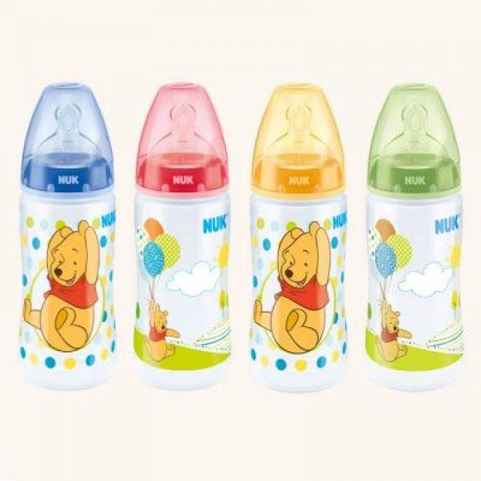 Buteliukas su silikoniniu M dydžio žinduku NUK First Choice Disney kūdikiams iki 6 mėn., 300 ml