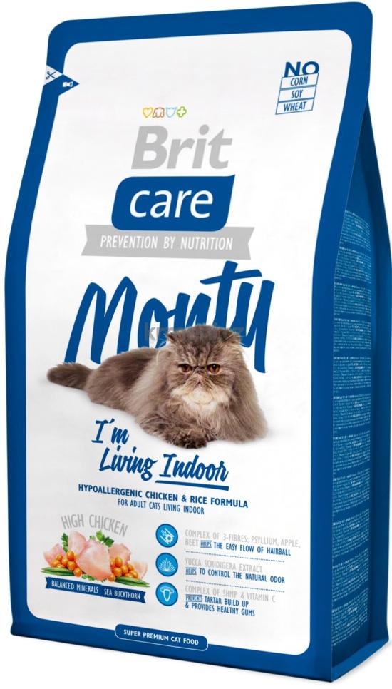 BRIT CARE Indoor hipoalerginis ėdalas katėms, 2kg