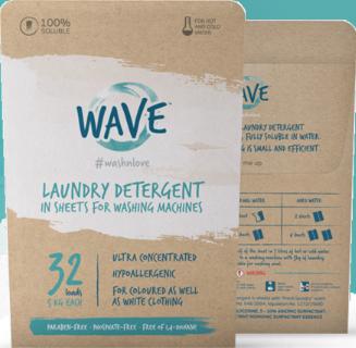 Ekologiški skalbimo lapeliai WAVE, 32 skalbimai
