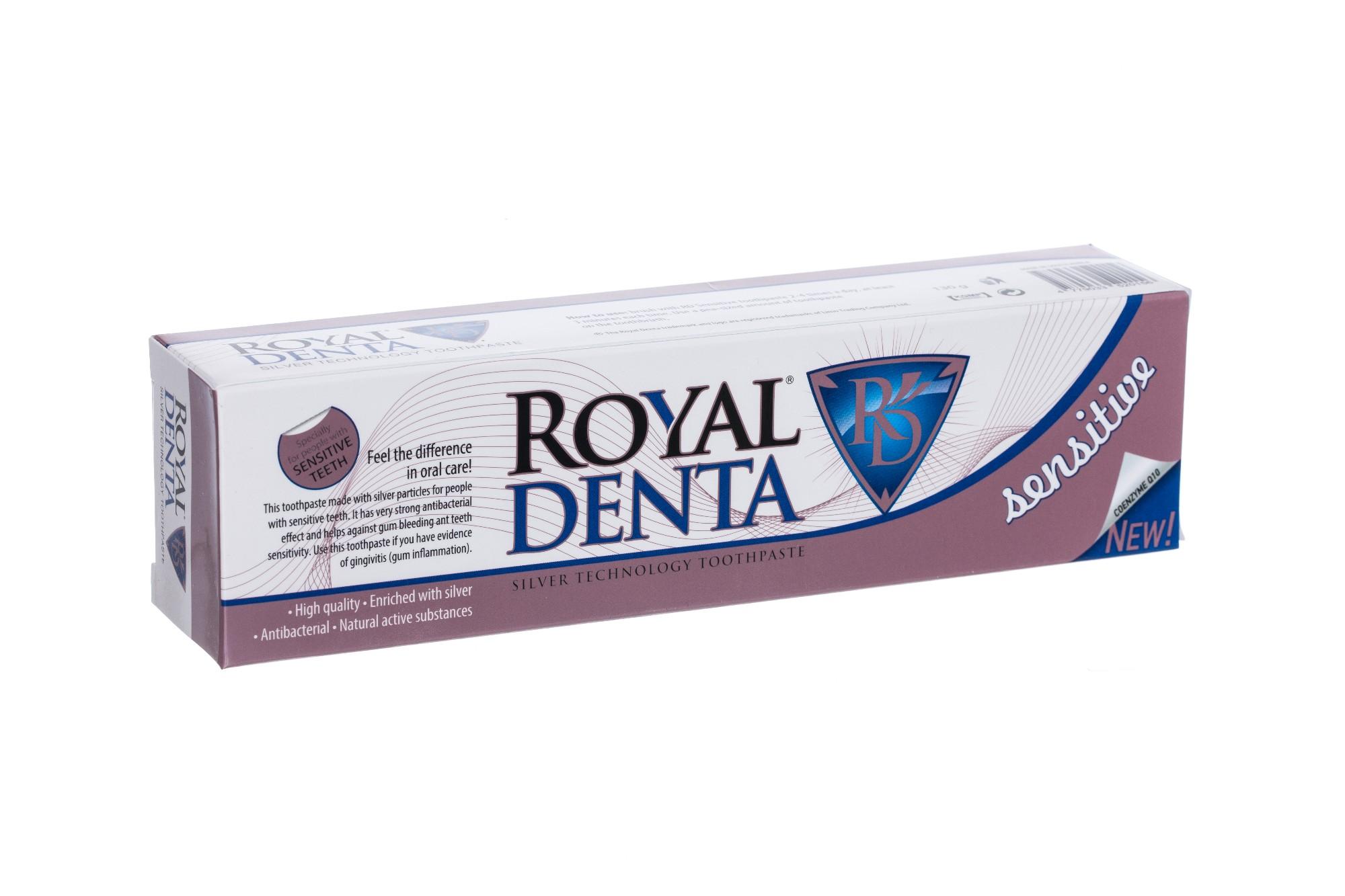 ROYAL DENTA Sensitive dantų pasta jautriems dantims, 130g