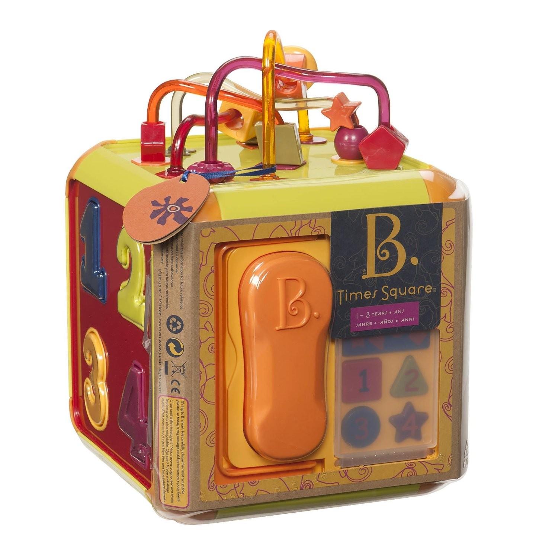 Muzikinis veiklos kubas su telefonu B-TOYS Times Square 1-3 m. vaikams (BX1006Z)