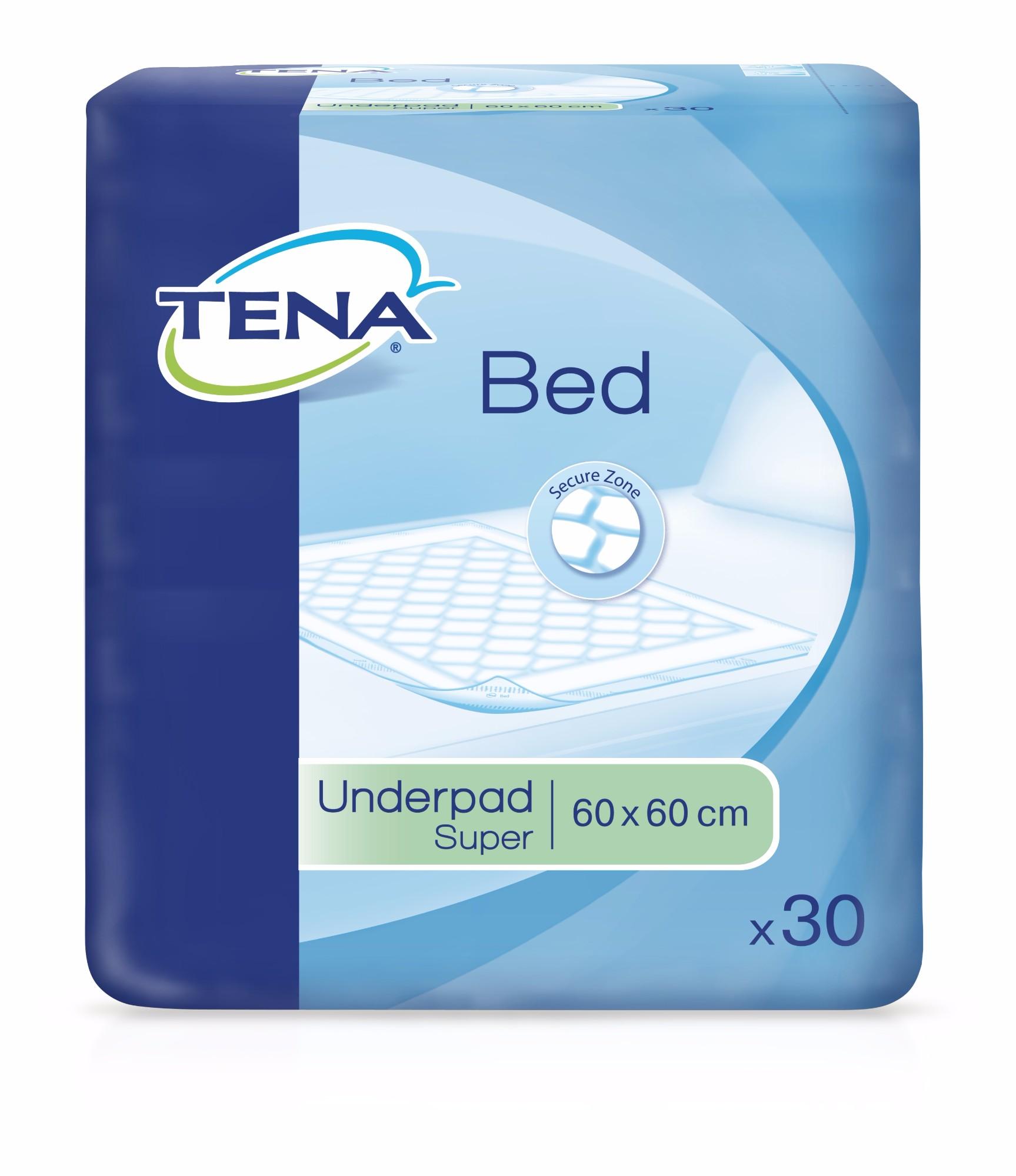 Tena Bed Plus Secure Zone paklotai 60x60cm, 30 vnt
