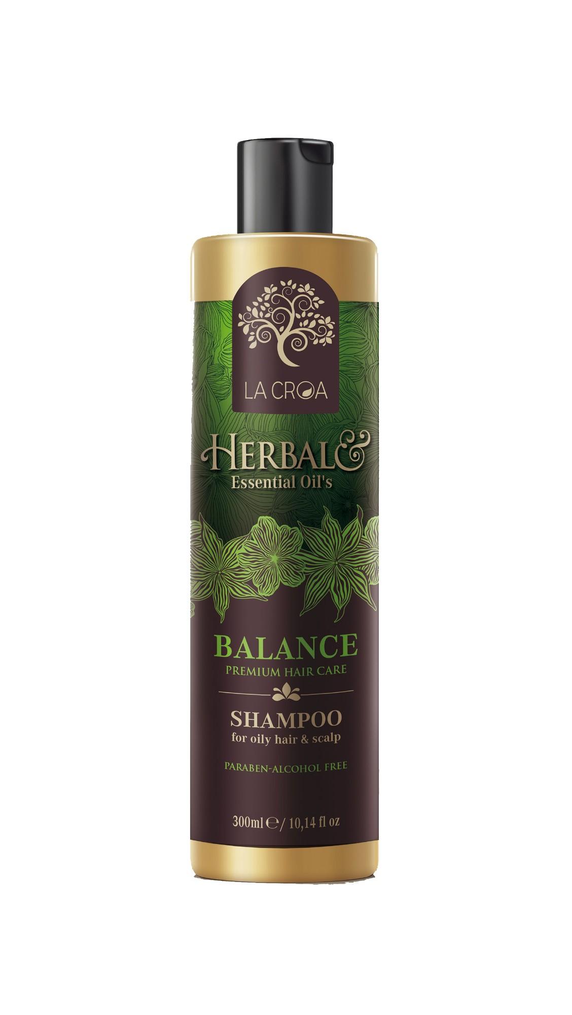 Šampūnas LA CROA HERBAL BALANCE riebiai galvos odai ir plaukams, 300 ml