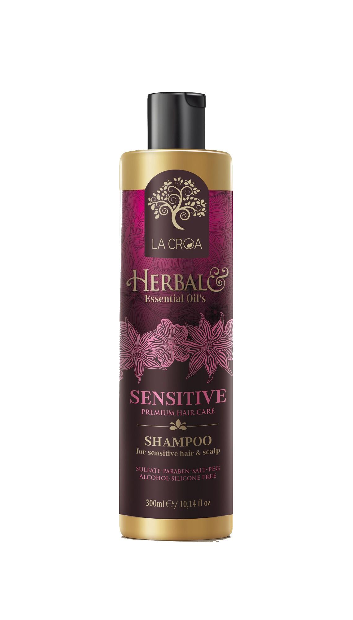 Šampūnas LA CROA HERBAL SENSITIVE jautriai galvos odai, 300 ml
