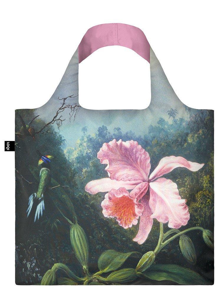 Pirkinių maišelis LOQI su orchidėja, išmatavimai 50x42cm, 1 vnt.
