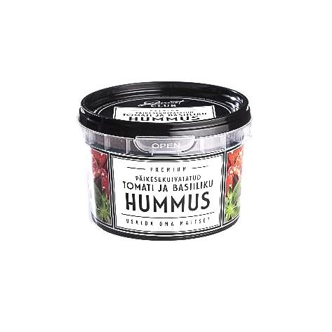 Saulėje džiovintų pomidorų ir baziliko humusas BALT – HELLIN, 200g