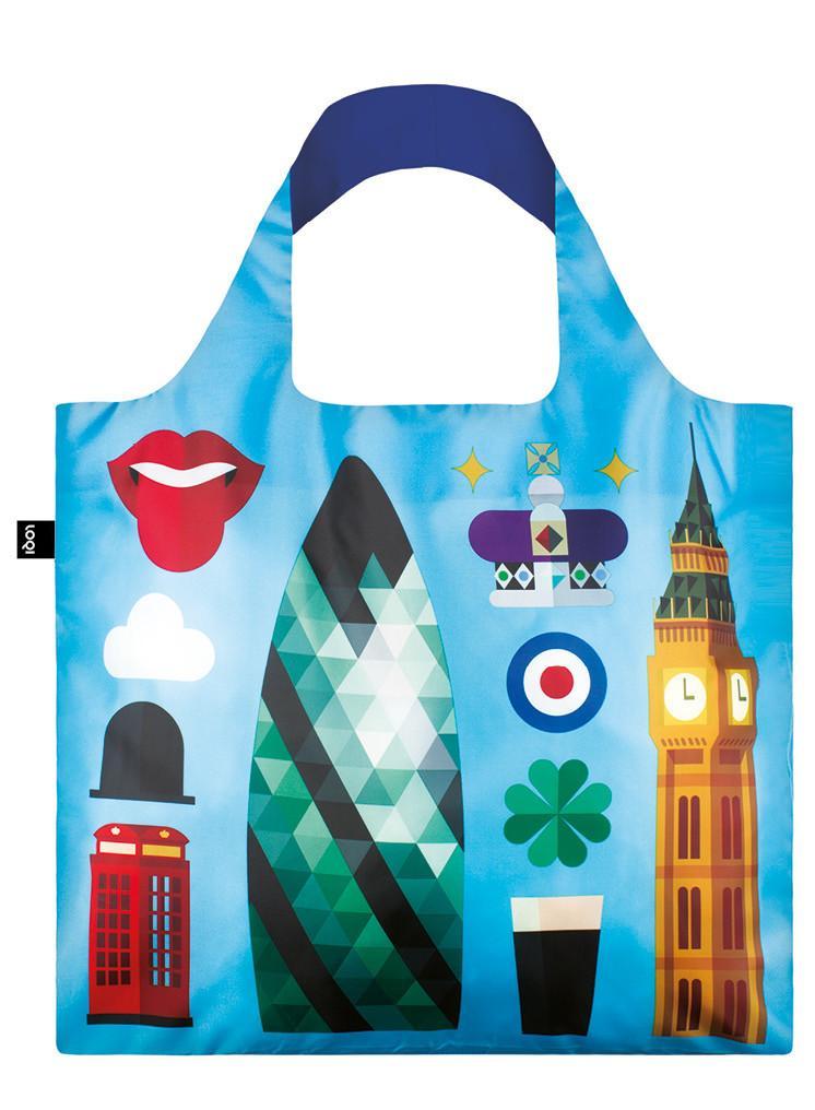 Pirkinių maišelis LOQI London, išmatavimai 50x42cm, 1 vnt.