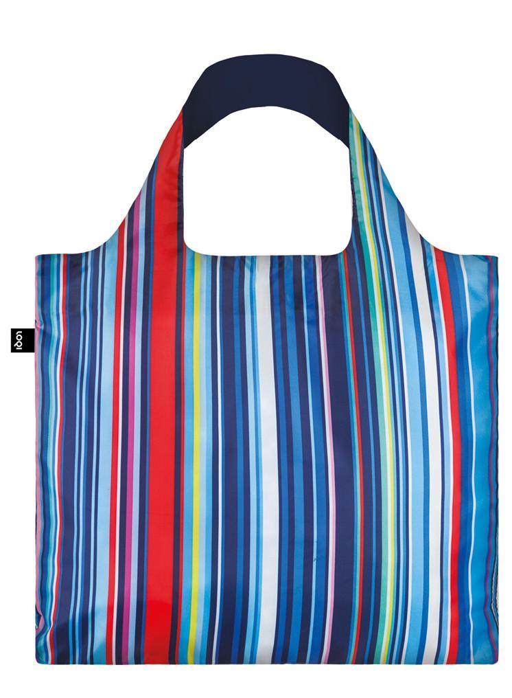 Pirkinių maišelis LOQI dryžuotas, išmatavimai 50x42cm, 1 vnt.