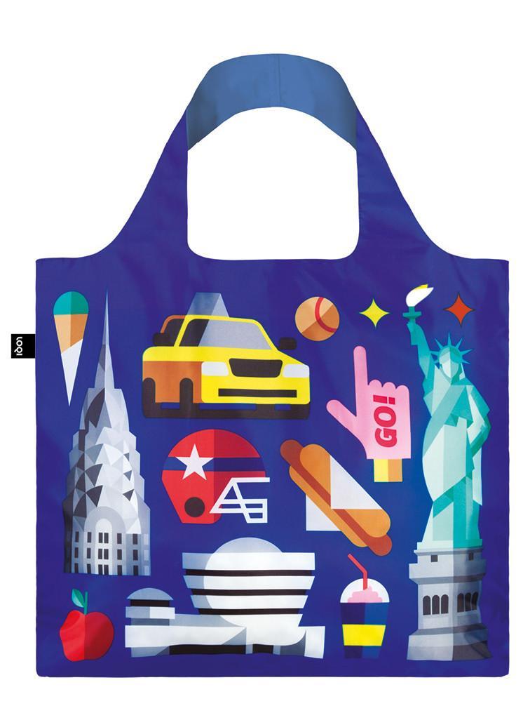 Pirkinių maišelis LOQI New York, išmatavimai 50x42cm, 1 vnt.