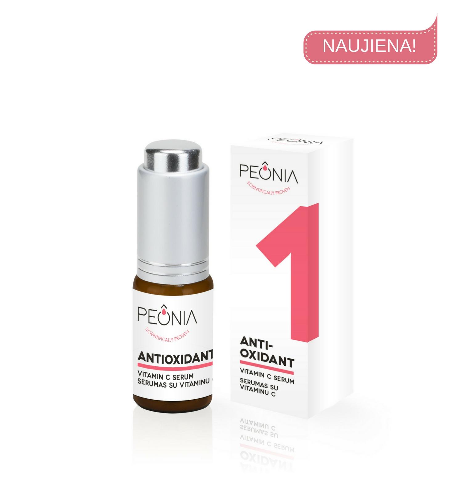 Antioksidantas -serumas PEONIA su vitaminu C, 15 ml