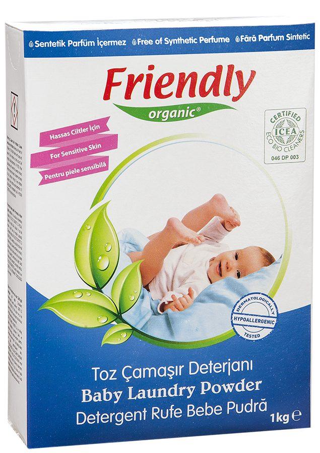 Ekologiški skalbimo milteliai FRIENDLY ORGANIC, 1 kg