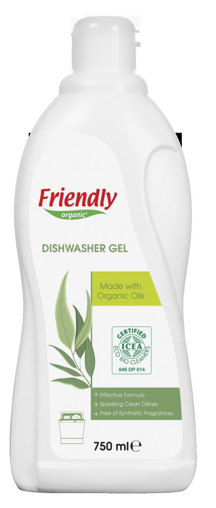 Ekologiškas indaplovių gelis FRIENDLY ORGANIC, 750 ml