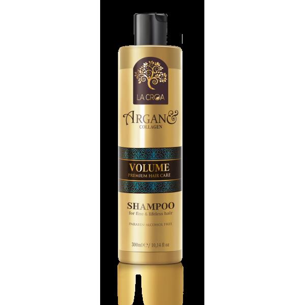 Apimties suteikiantis šampūnas LA CROA VOLUME su kolagenu ploniems ir pažeistiems plaukams, 300 ml