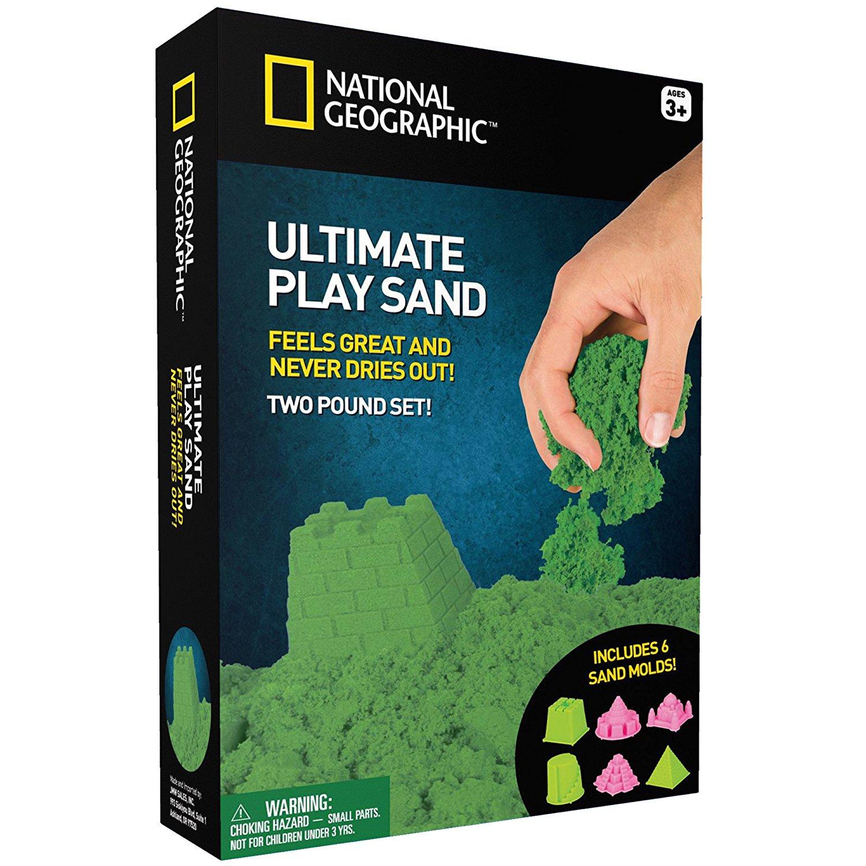 Kinetinio smėlio rinkinys NATIONAL GEOGRAPHIC vaikams nuo 3 metų