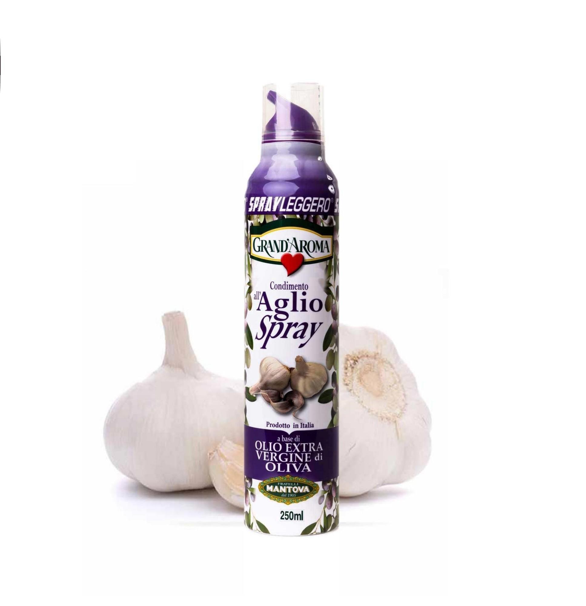 ČESNAKO SKONIO aukščiausios kokybės pirmojo spaudimo alyvuogių aliejus Grand Aroma, 250