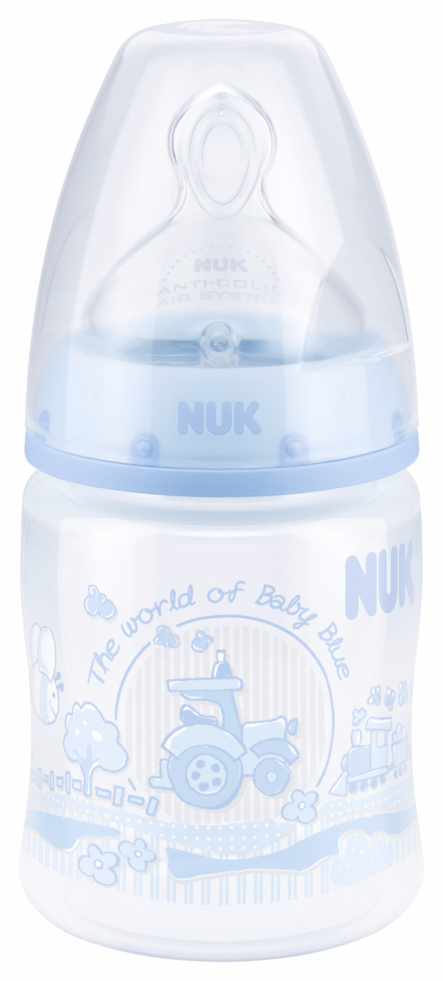 Buteliukas NUK FC+ Baby Blue PP SI 1M, 150 ml (SD19)