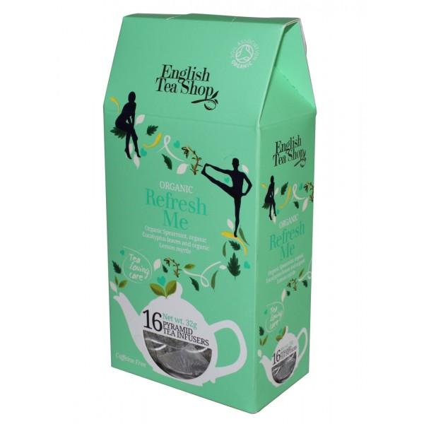 Ekologiška arbata ENGLISH TEA SHOP Refresh, 16 maišelių