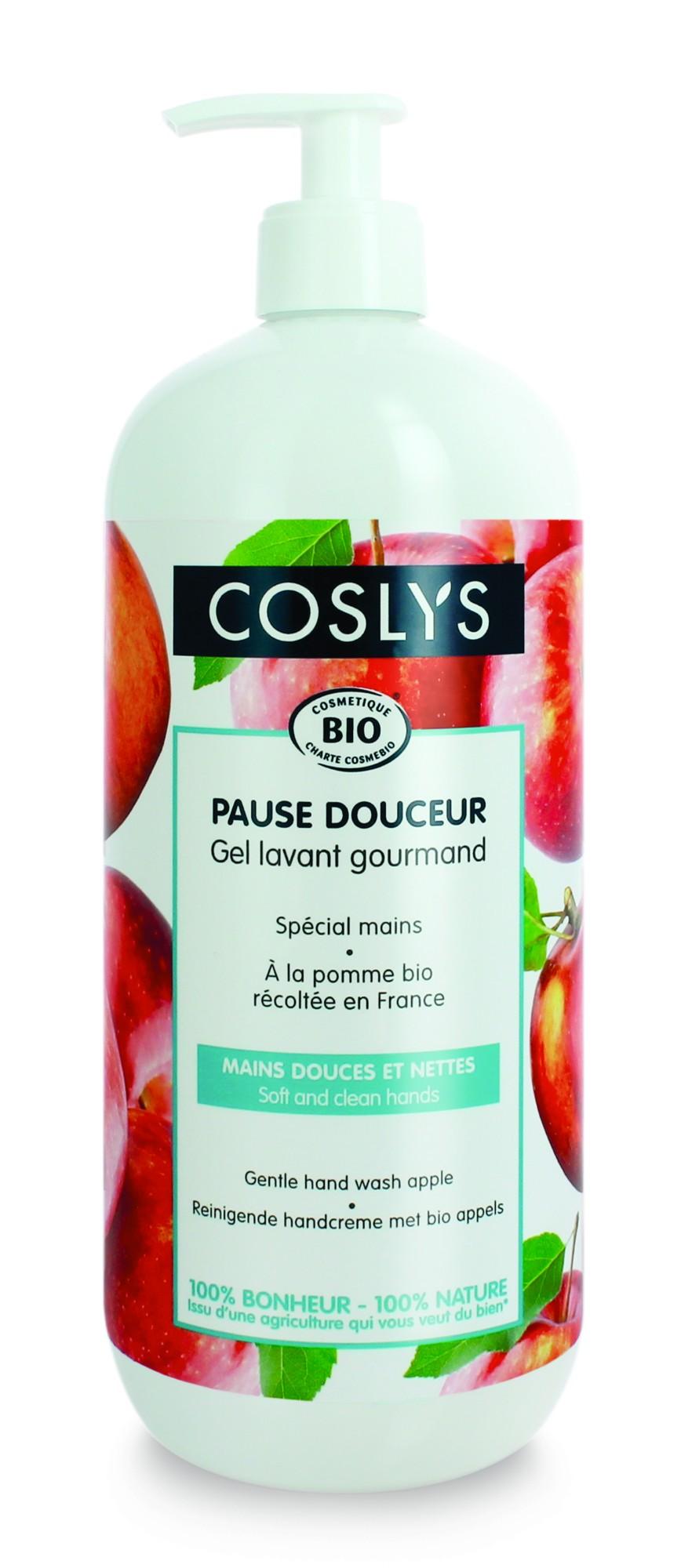 COSLYS kreminis rankų prausiklis su prancūziškų obuolių aromatu, 1000 ml