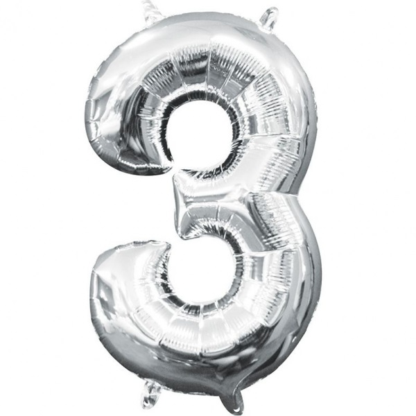 Folinis balionas-skaičiukas 3 AMSCAN, A05