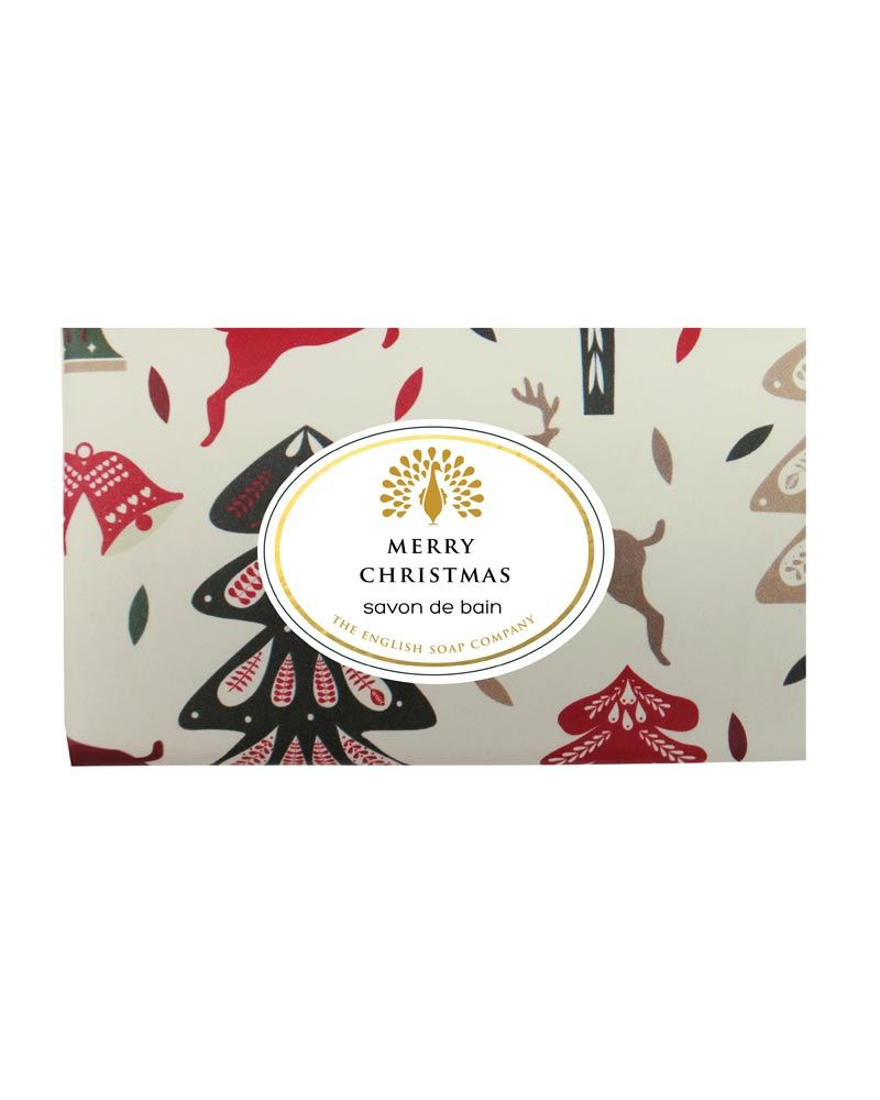 Muilas dovanoms Vintage REINDEER & CHRISTMAS TREES, English Soap, 200 g